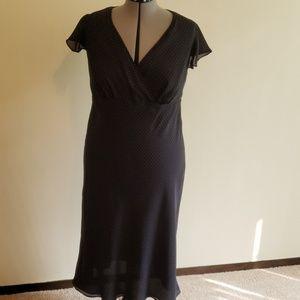 Lane Bryant black polka dot maxi dress